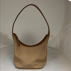 Nine West Tan/brown Fabric / Faux Leather Purse